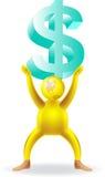 lyftande pengar royaltyfri illustrationer