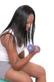 lyftande viktkvinna Royaltyfri Fotografi