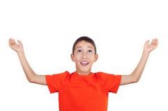 lyftta pojkehänder Royaltyfria Bilder
