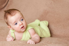Lying baby Royalty Free Stock Images