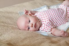 Lying Baby Stock Photos