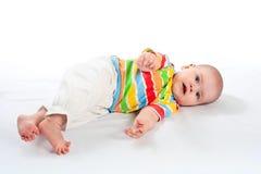 Lying baby. Stock Photo