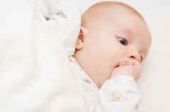Lying Baby Royalty Free Stock Photography