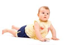 Lying baby Stock Image