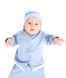 Lying baby boy Stock Images
