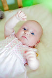 Lying Baby Girl Royalty Free Stock Photo