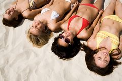 Lying on the beach Stock Photo