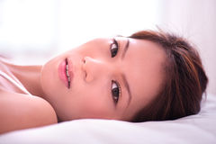 Lying on the bed 3 Royalty Free Stock Photography