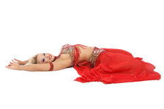 Lying bellydancer Royalty Free Stock Photo