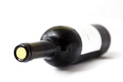Lying bottle of wine Royalty Free Stock Photography