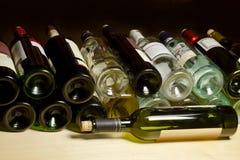 Lying bottle of wine. Royalty Free Stock Image