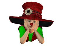 Lying boy with big hat Royalty Free Stock Image