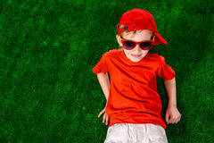 Lying boy Royalty Free Stock Photography