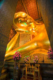 Lying Buddha inside Wat Po Temple, bangkok Royalty Free Stock Image
