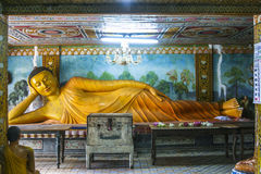 Lying Buddha in Mihintale Royalty Free Stock Photography