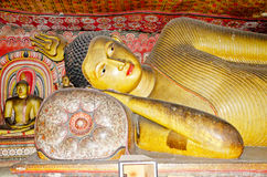 Lying Buddha statue Royalty Free Stock Photography