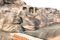 The lying buddha statue. In Srilanka Stock Photo