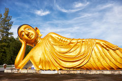 Lying Buddha statue Stock Images
