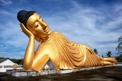Lying Buddha statue Royalty Free Stock Image
