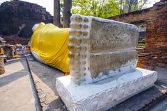 Lying Buddha in Wat Yai Royalty Free Stock Photography