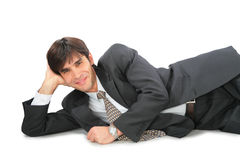 Lying businessman Royalty Free Stock Photos