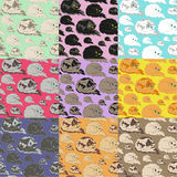 Lying Cat Seamless Pattern Royalty Free Stock Photo