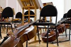 Lying Cello Royalty Free Stock Photos