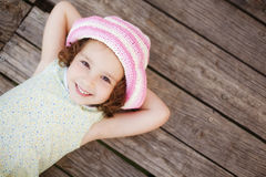Lying Child Royalty Free Stock Images