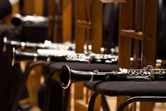 Lying clarinets Royalty Free Stock Images