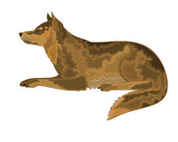 Lying dog. Vector illustration eps 8  without gradients stock illustration