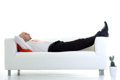 Lying down Royalty Free Stock Photography