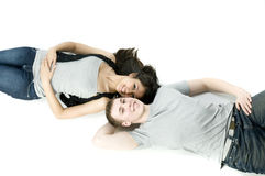 Lying Down Stock Images