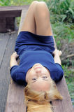 Lying Girl Royalty Free Stock Photography
