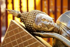 Lying Golden Buddha Stock Image