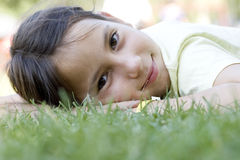 Lying on the grass Royalty Free Stock Photo