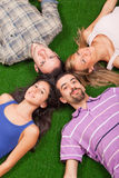 Lying on Green Royalty Free Stock Photography