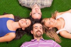 Lying on Green Stock Image