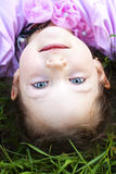 Lying on herb cute girl Royalty Free Stock Photography