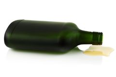 Lying on its side a bottle. Royalty Free Stock Photo