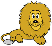 A lying lion plush Royalty Free Stock Image