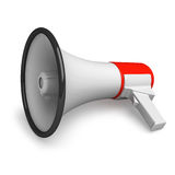 Lying megaphone Stock Images