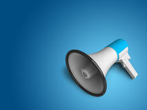 Lying megaphone Royalty Free Stock Image