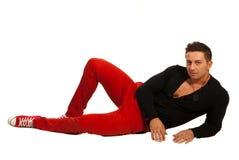 Lying model man Royalty Free Stock Photography