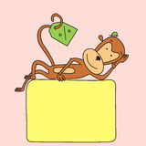 Lying monkey Stock Photography