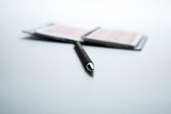 Lying pen on white background Stock Photos