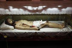 Lying sculpture of Jesus Christ Royalty Free Stock Photos
