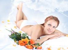 Lying on sky Royalty Free Stock Photos