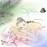 Lying for spa massage Stock Photo