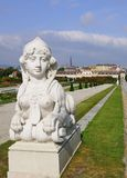 Lying Sphinx Guarding Belvedere Gardens Stock Photos