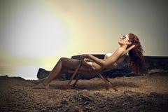 Lying in the sun Stock Image